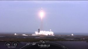 The explosion occurred during the launch of the SpaceX Crew Dragon ship Mask: video
