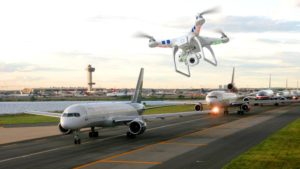 At international airports will begin to track drone flights
