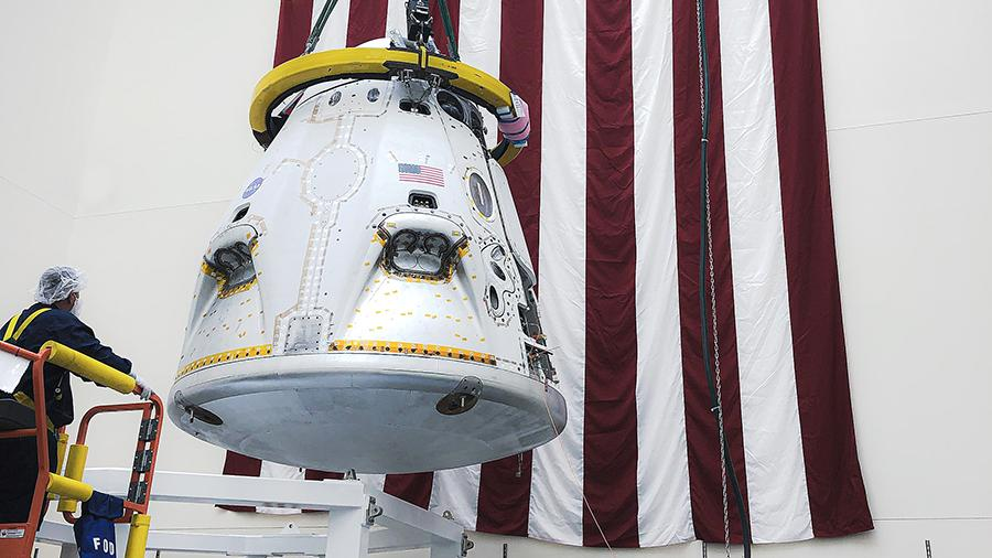 Crew Dragon capsule before spacecraft interruption test