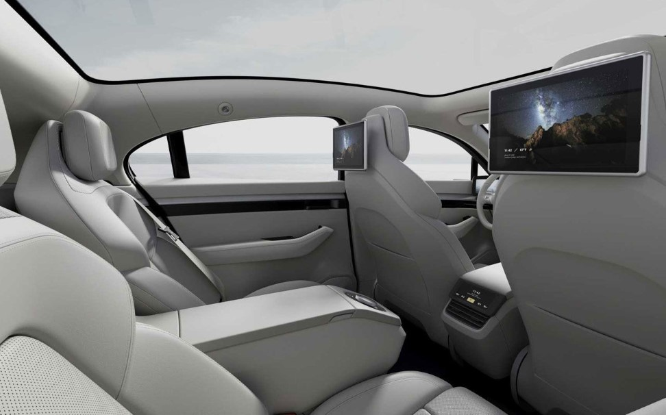 The interior of the car Sony Vision-S