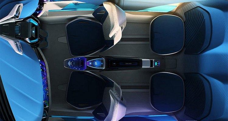 Futuristic electric car Futuro-e