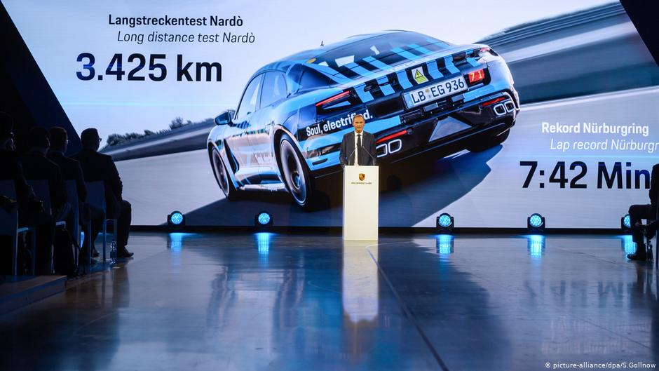 Stuttgart, September 9: Oliver Blume introduces the Porsche Taycan and its test results