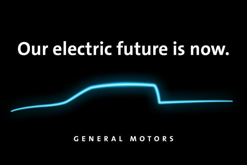 Teaser of the new electric car General Motors