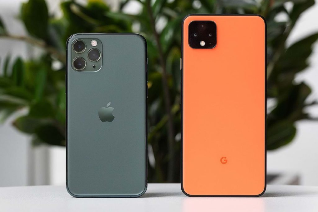 Comparison of Google Pixel 4 with iPhone 11