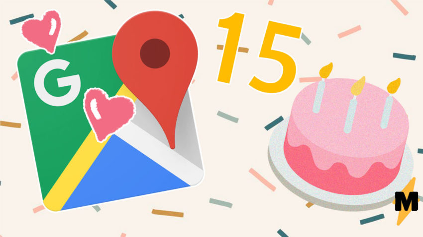 Google Maps redesigned in honor of the 15th anniversary