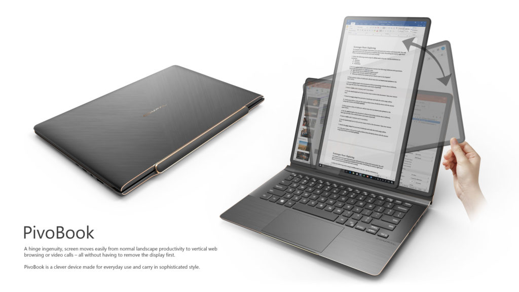 PivoBook Swivel Laptop with rotated screen