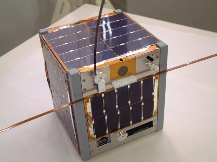 Some Cubesat orbital devices weigh from 100 grams to 1 kilogram.