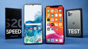 Samsung Galaxy S20 Ultra vs iPhone 11 Pro speed comparison