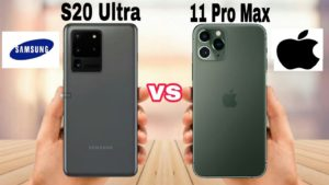 Comparison of Samsung Galaxy S20 Ultra and iPhone 11 Pro Max cameras