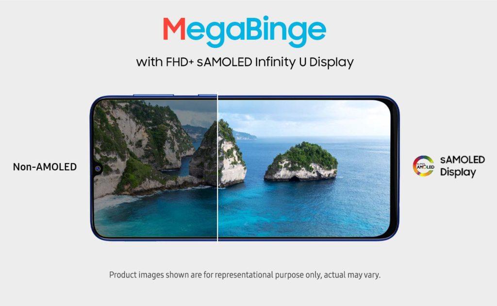 Galaxy M31 awesome screen