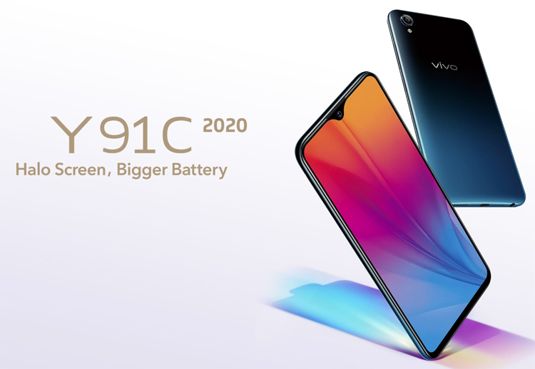 "The Vivo Y91C 2020 is equipped with a 6.22 ""screen and Helio P22 processor"