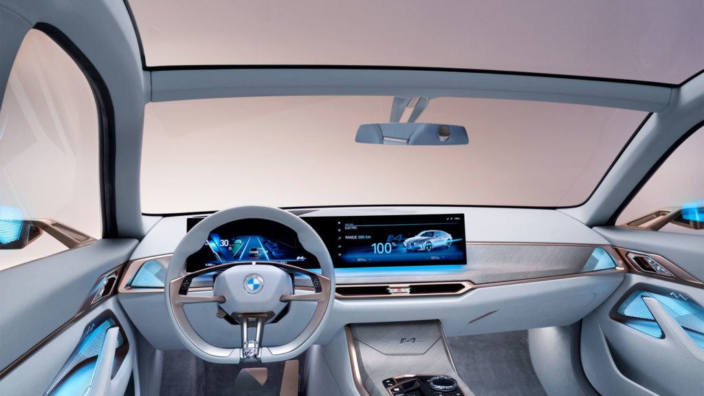 BMW Concept i4: inside view