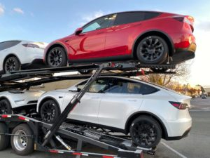 Tesla began shipping its new Model Y electric car to stores