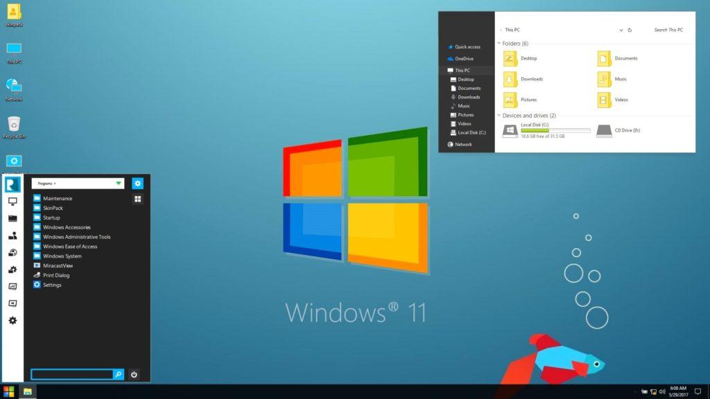 Desktop of Windows 11
