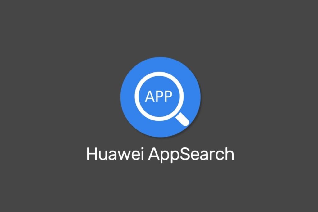 Huawei AppSearch Logo on Gray background