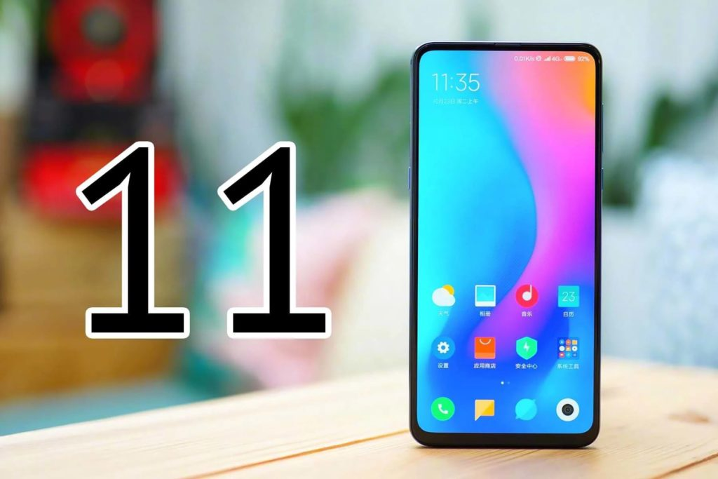 Smartphone with The MIUI 11