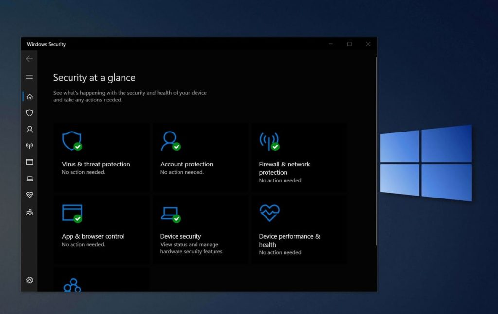 The Control Panel of New Windows 10